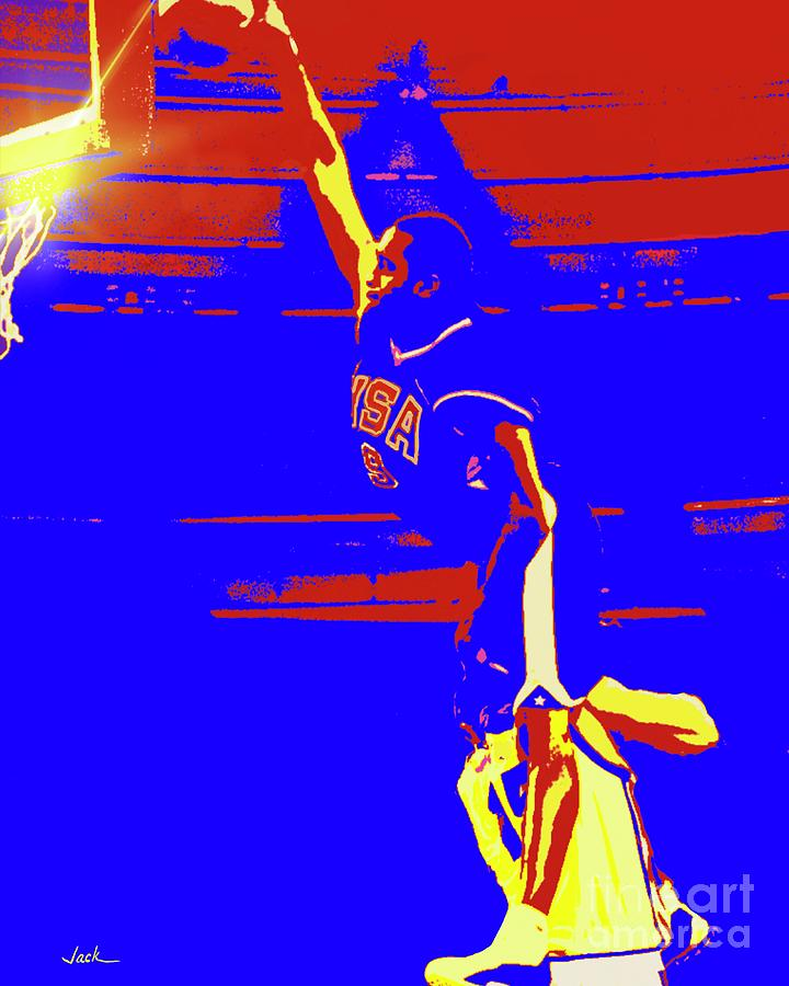 2000 Painting - Vince Carter Olympics by Jack Bunds
