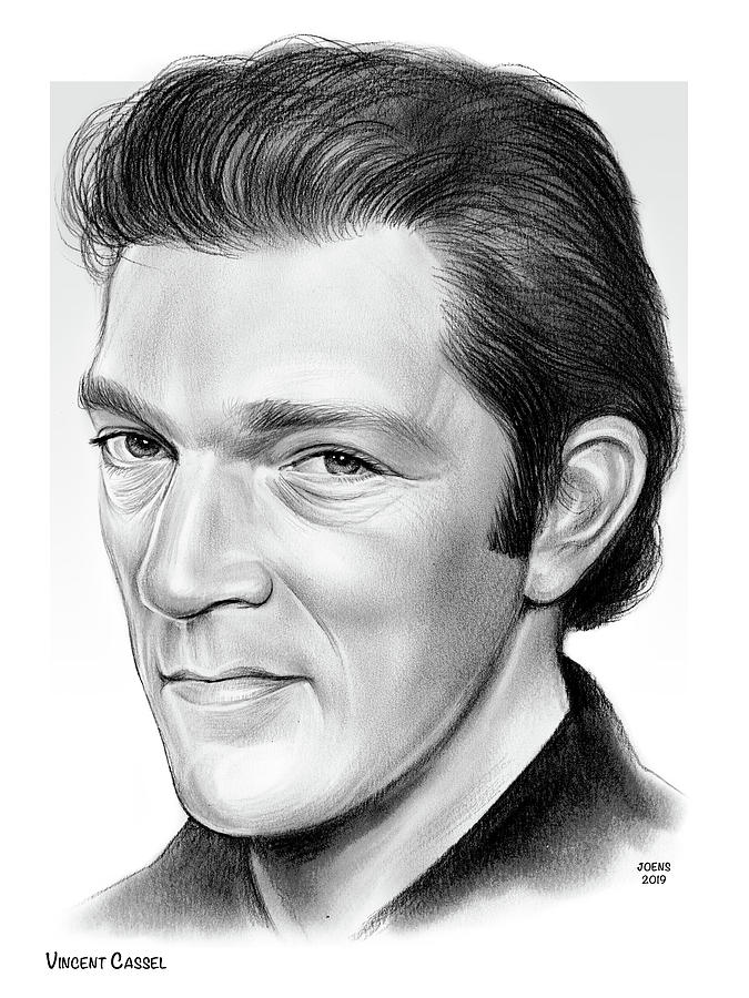 Vincent Cassel Drawing