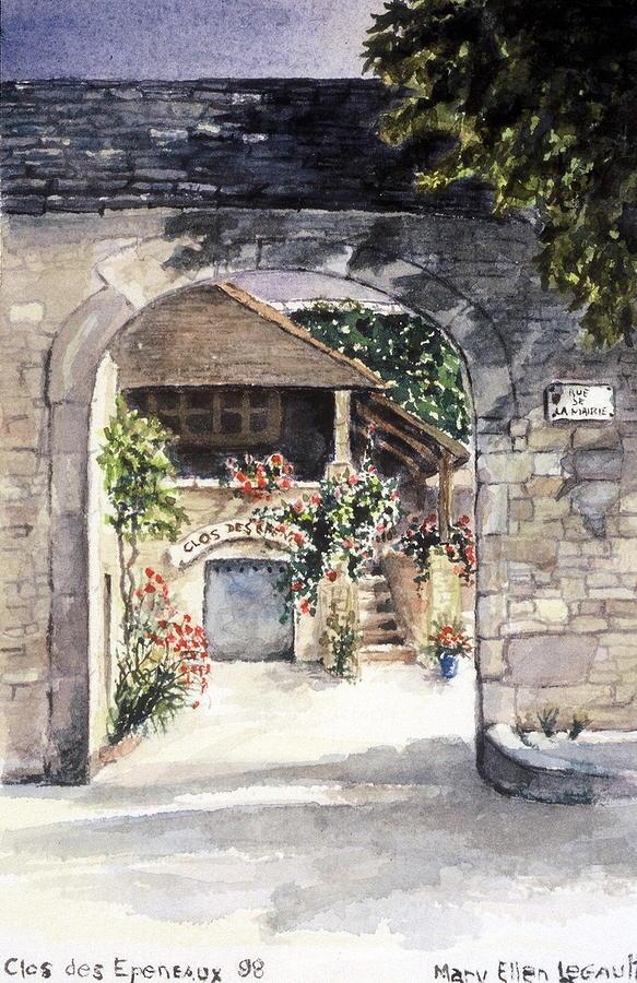 France Painting - Vineyard Clos des Epeneaux by Mary Ellen Mueller Legault