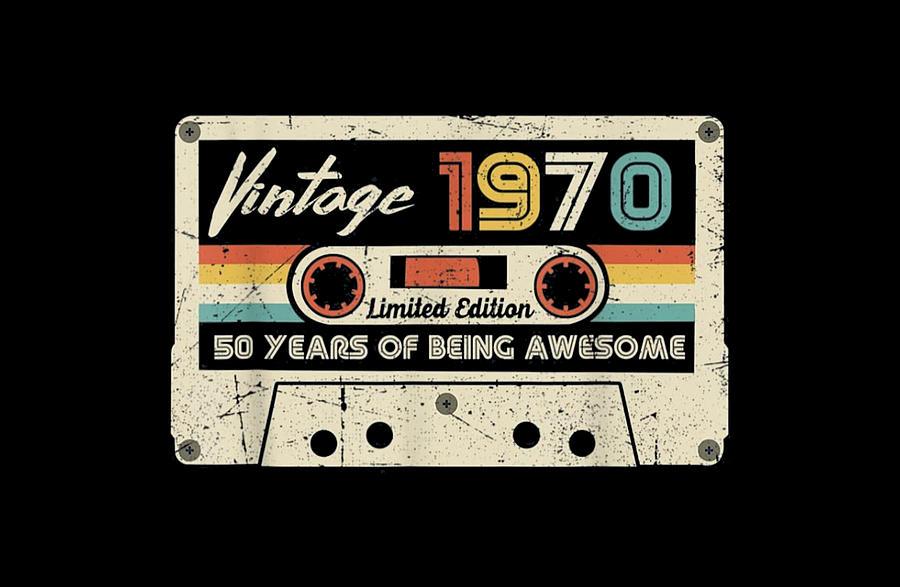 Vintage Digital Art - Vintage 1970 by Wendy Rode