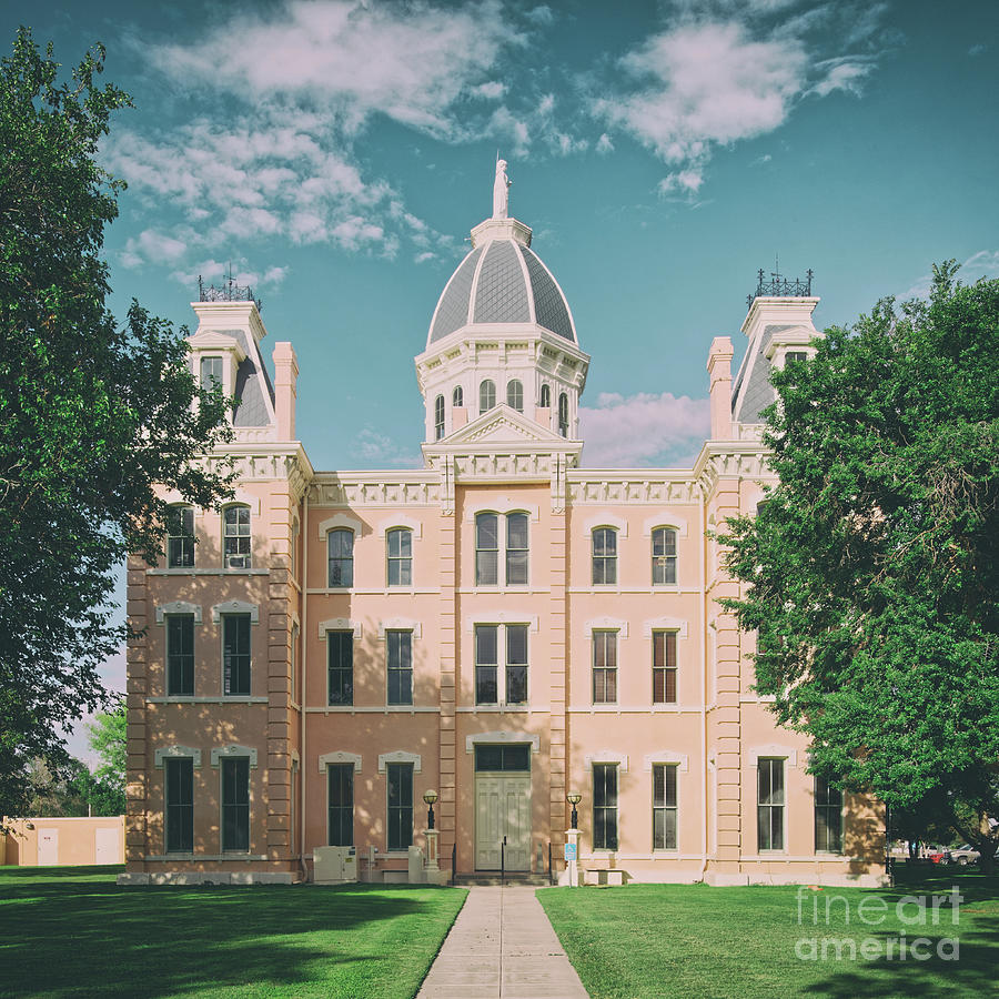 Vintage Architectural Photograph Of The Presidio County Courthouse In Marfa - West Texas Photograph