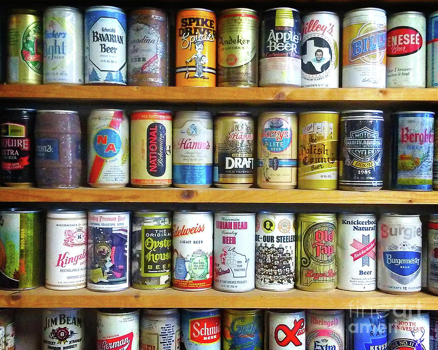 Vintage Beer Cans Photograph by Chris Andruskiewicz