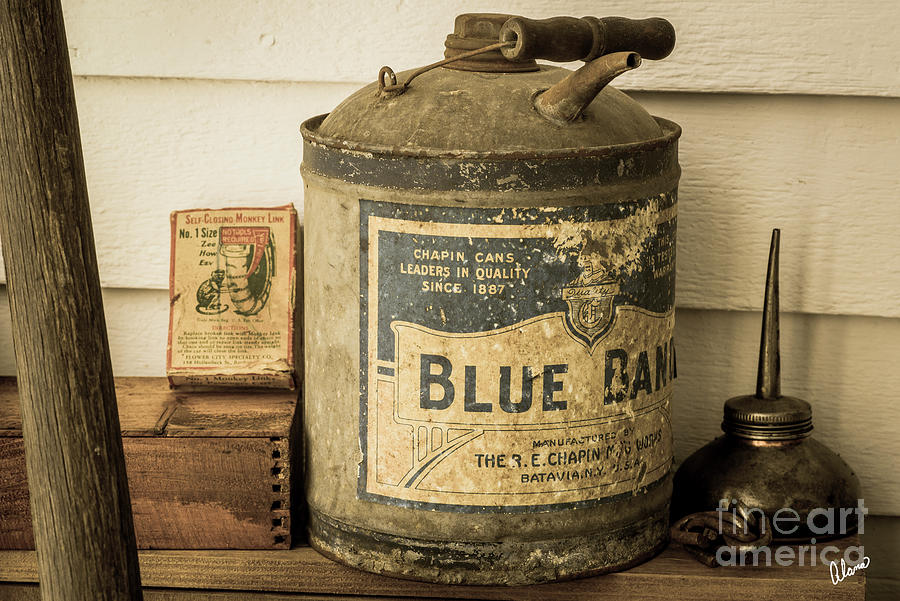 Vintage Blue Band Can Photograph