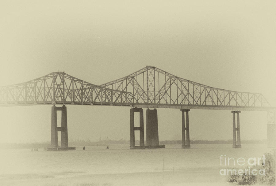 Vintage Charleston Bridges - Pearman And Grace Photograph