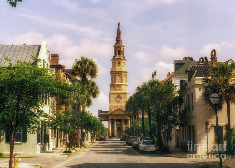 Vintage Charleston - Church Bells Photograph
