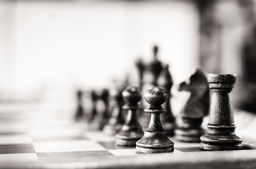 Vintage chess board Photograph by Funky-data