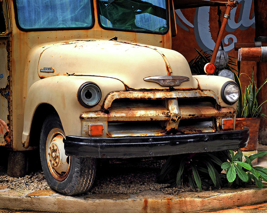 Vintage Chevy Truck in Costa Maya by Bill Swartwout Photography