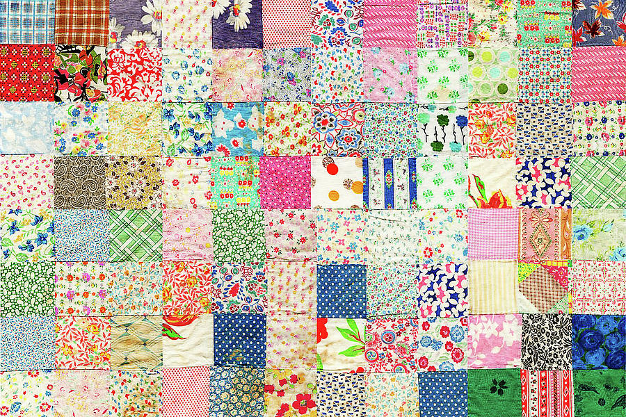 Vintage Country Patchwork Quilt Photograph by Peggy Collins