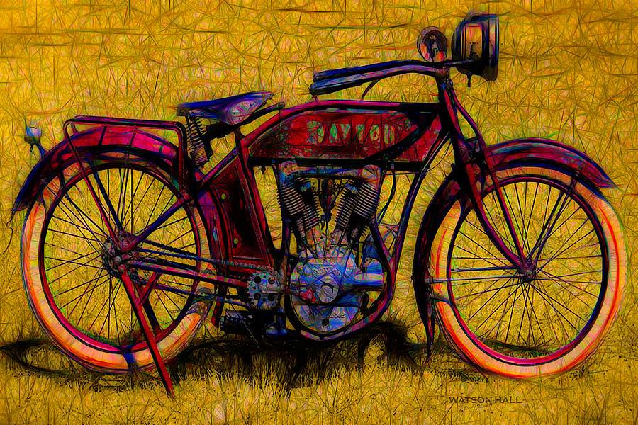 Vintage Dayton Motorcycle - Circa 1913 Digital Art by ...