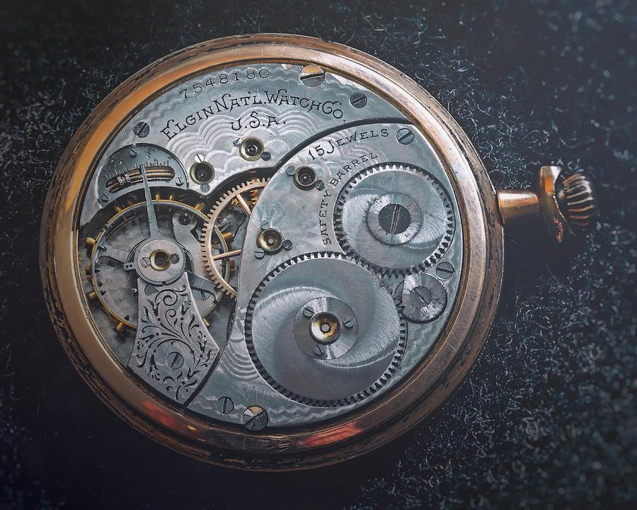 Vintage Elgin Pocket Watch Photograph