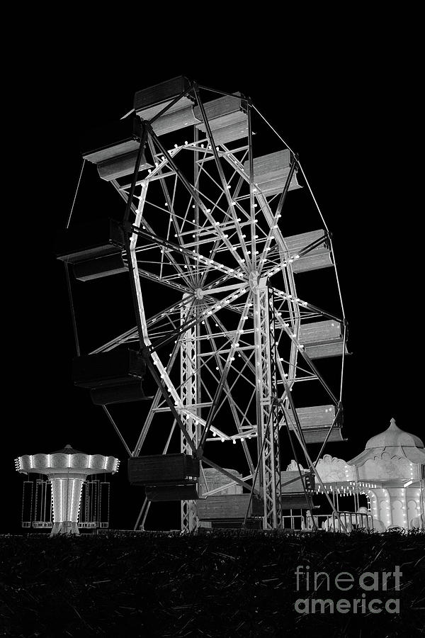 Vintage fair ground at night by Clayton Bastiani