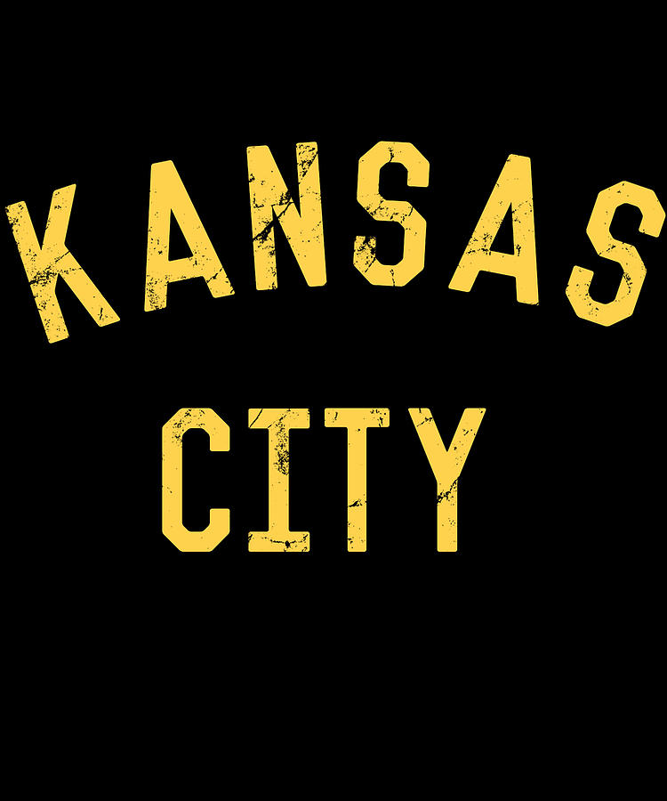 Kansas City Digital Art - Vintage Kansas City KC by Flippin Sweet Gear