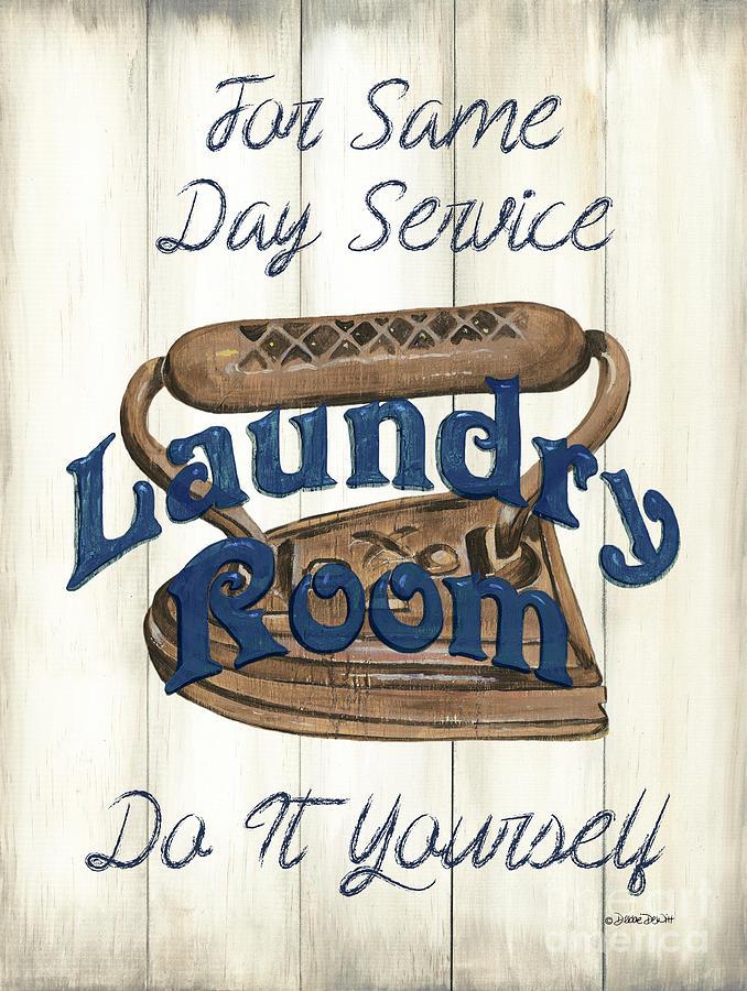 Vintage Laundry Room Indigo 1 Painting