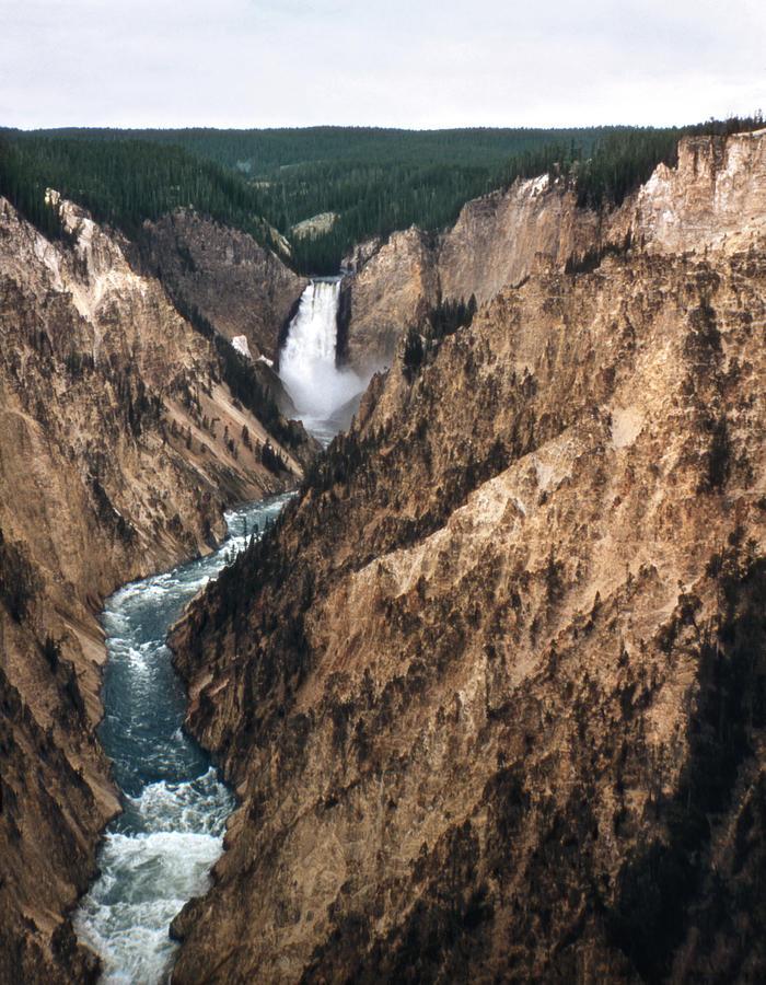 Vintage Lower Falls Yellowstone 2 Photograph