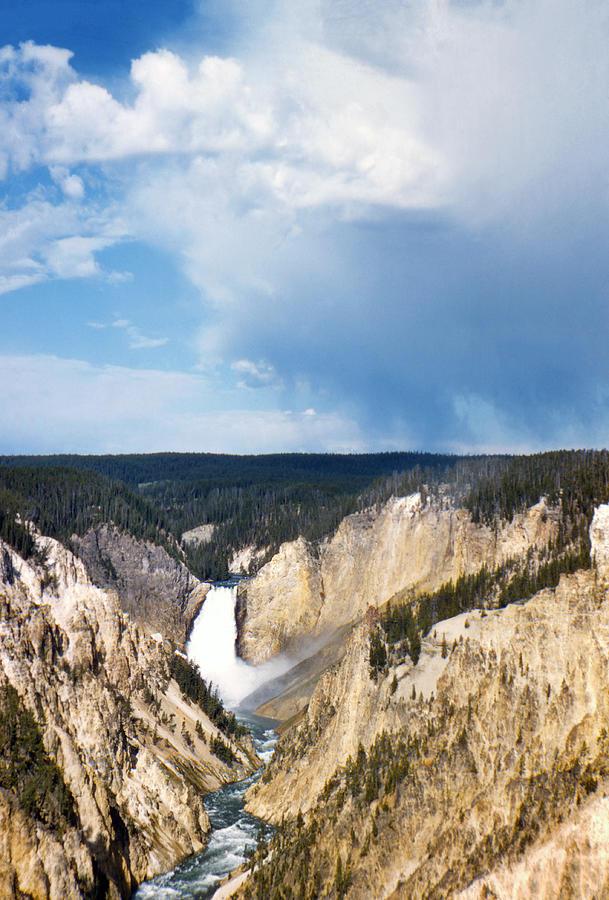 Vintage Lower Falls Yellowstone Photograph