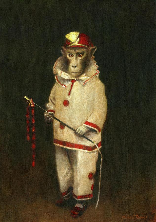Vintage Magic Monkey Painting