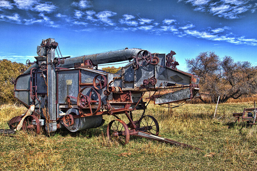 Vintage Oat Thresher Photograph by Alana Thrower