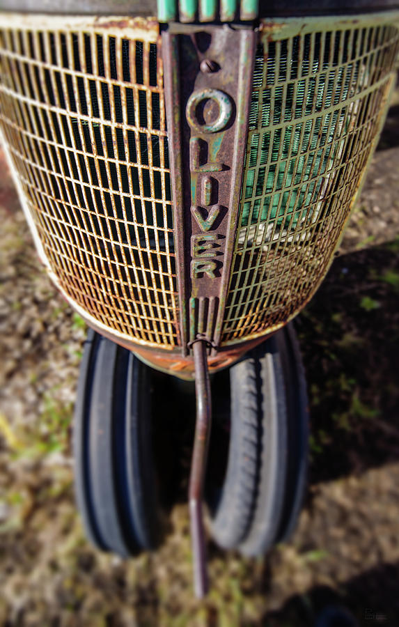 Vintage Oliver 70 Row Crop Tractor front grill Photograph ...