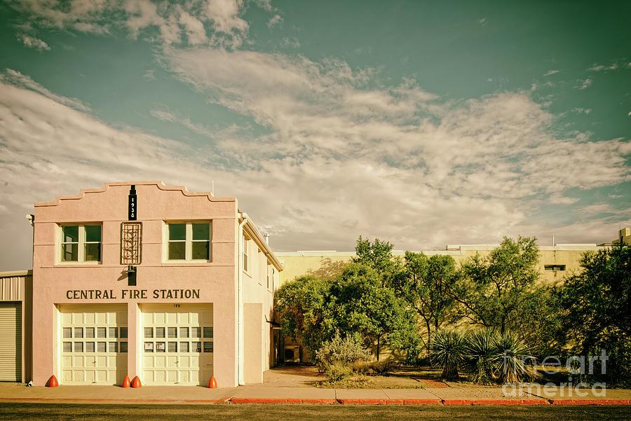 Vintage Photograph Of Marfa Central Fire Station Recreation Hall - Presidio County West Texas Photograph