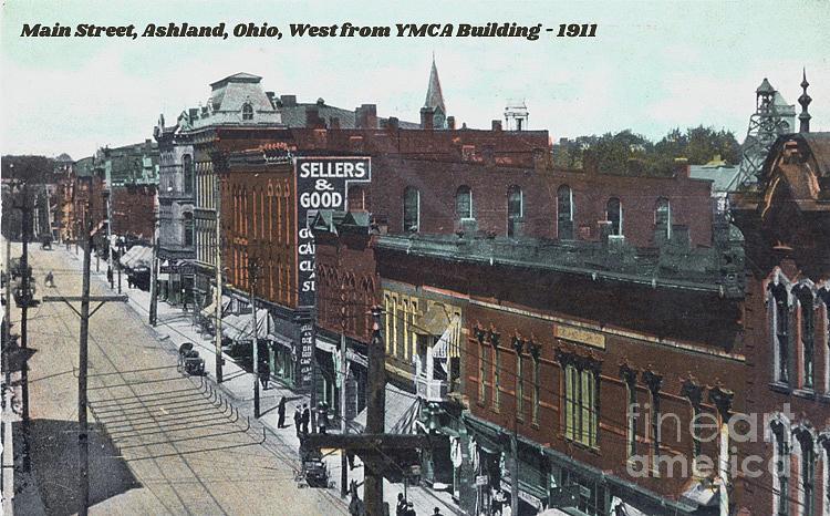 Vintage Postcard Of Ashland, Ohio - 1911 Painting