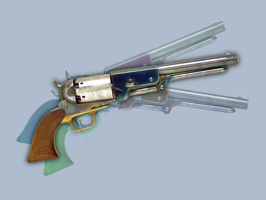 Vintage Retro Pop Art Gun Painting