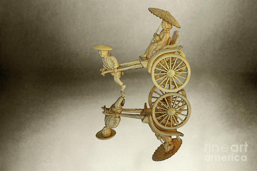 Vintage Rickshaw Faux Ivory by Kaye Menner by Kaye Menner