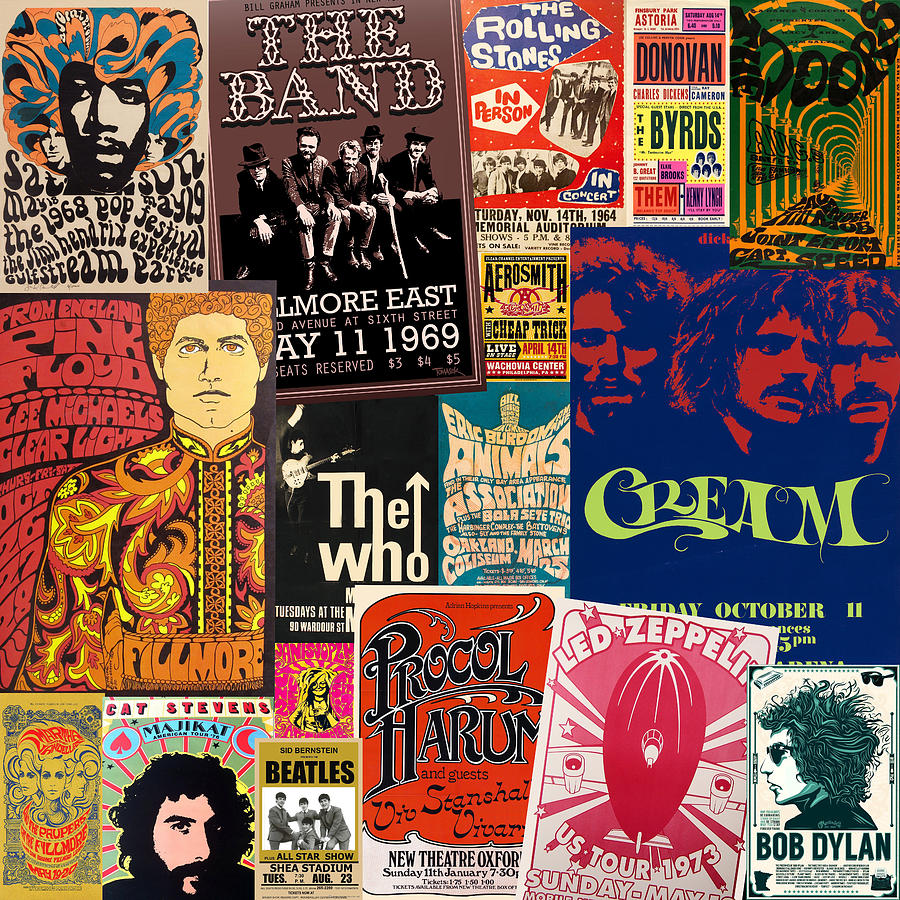 Vintage Rock Concert Posters 2 by Andrew Fare