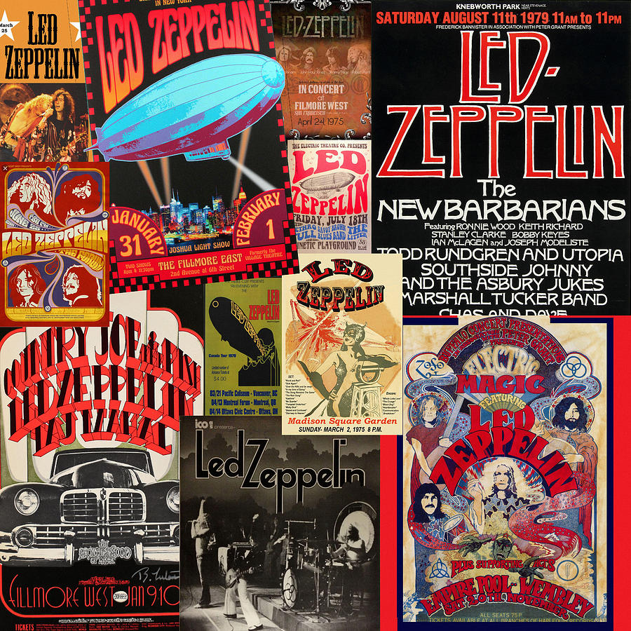 Vintage Rock Concert Posters 5 by Andrew Fare