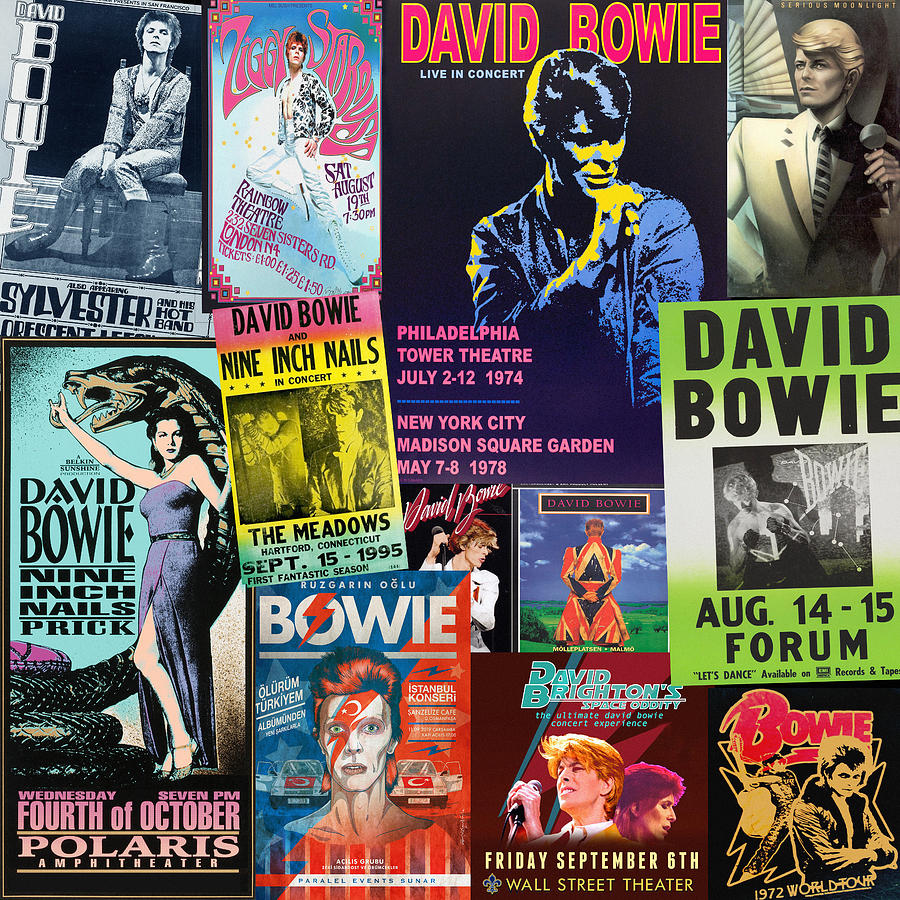 Vintage Rock Concert Posters 6 by Andrew Fare