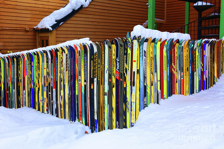 Ski Photograph - Vintage Ski Fence by Marty Fancy