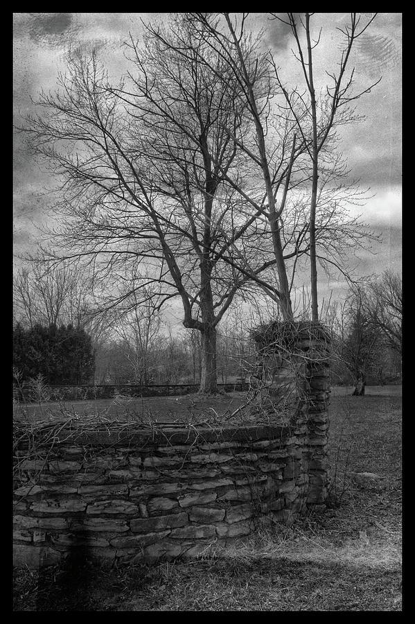 Vintage Stone Wall Photograph