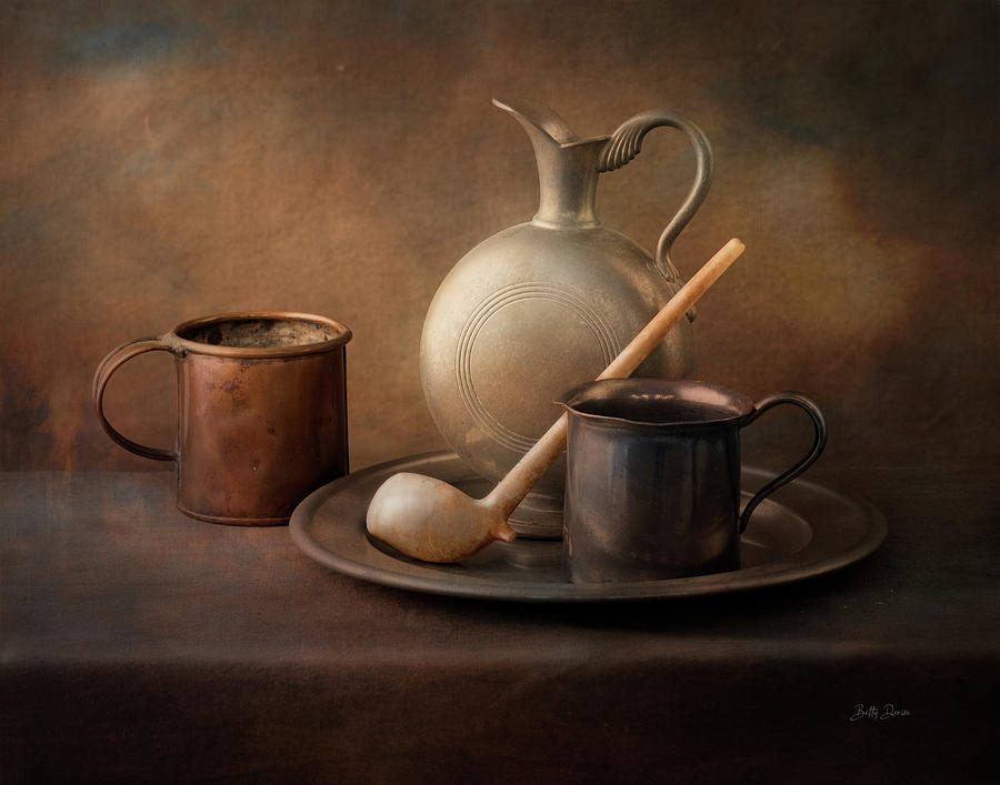 Vintage Table Still Life by Betty Denise