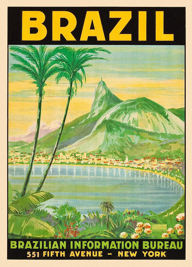 Vintage Travel Brazil 2 by Andrew Fare