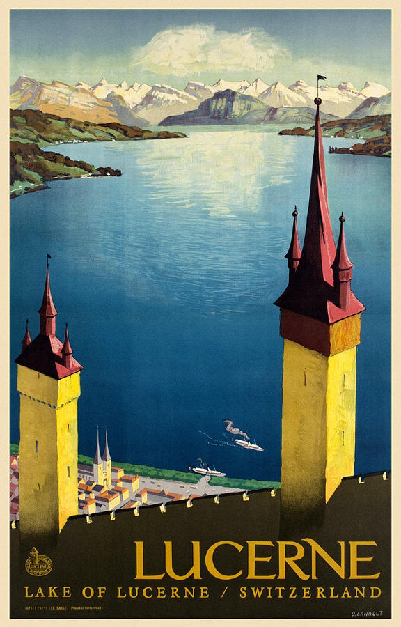 Vintage Travel Lucerne by Andrew Fare