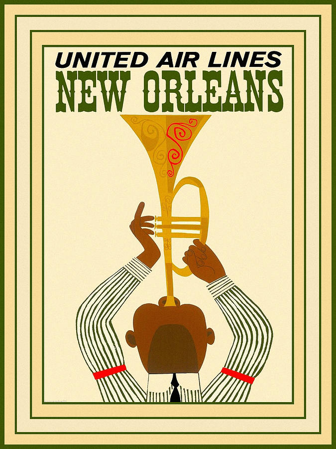 Vintage Travel New Orleans by Andrew Fare