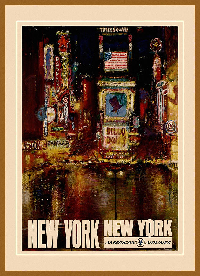 Vintage Travel New York 2 by Andrew Fare