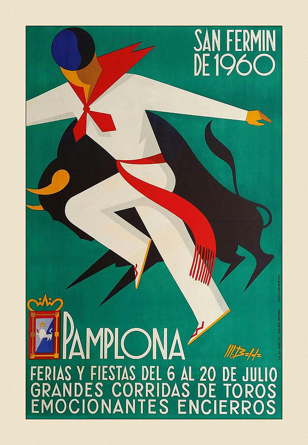 Vintage Travel Pamplona by Andrew Fare