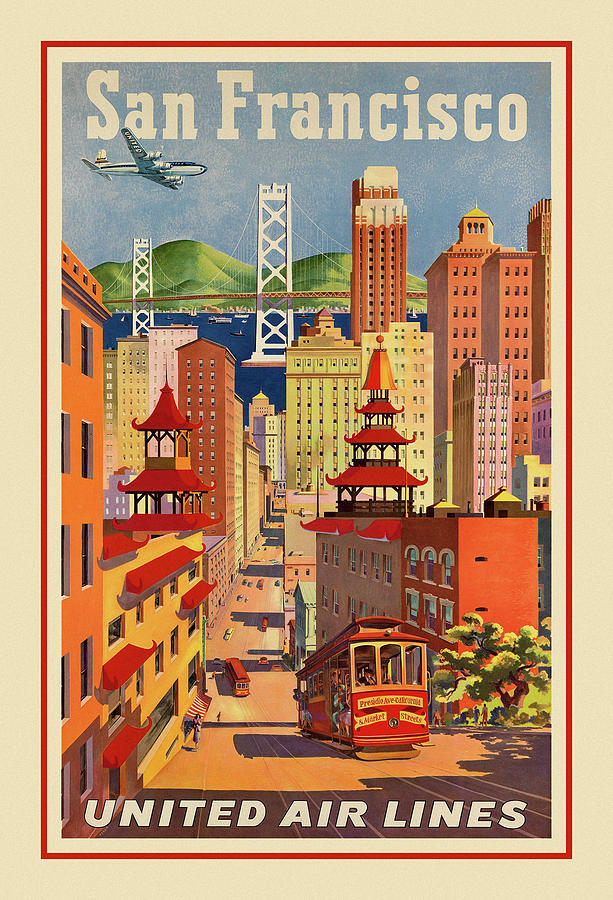 Vintage Travel San Francisco by Andrew Fare