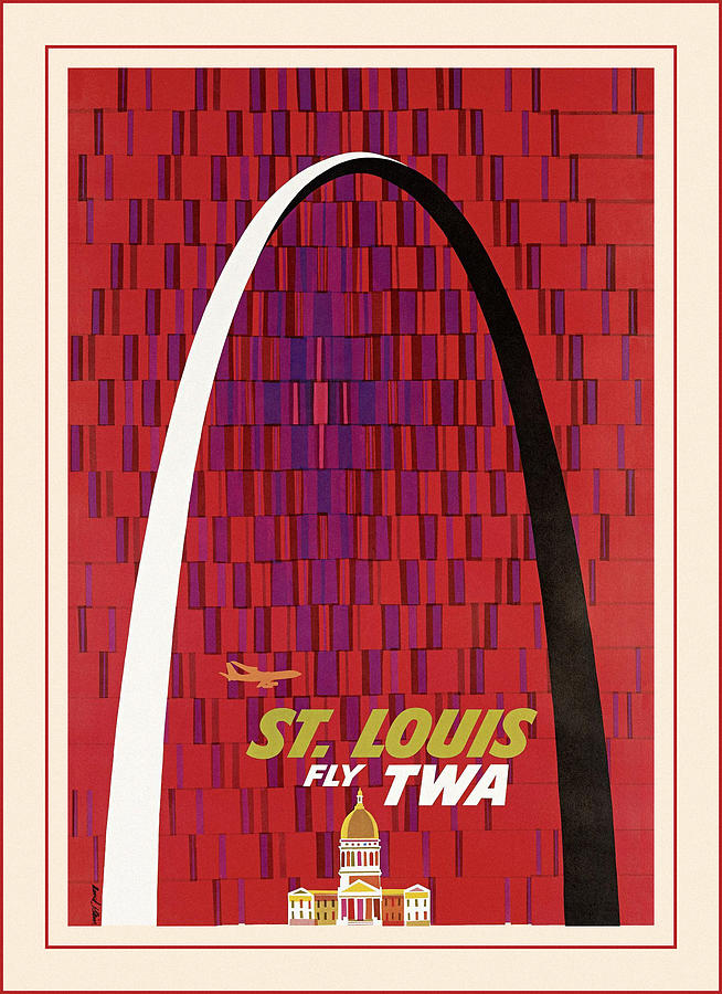 Vintage Travel St. Louis by Andrew Fare