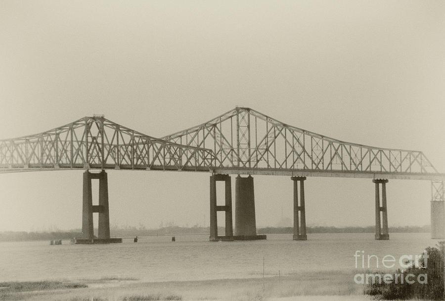 Vintage View - Cooper River Bridges Photograph
