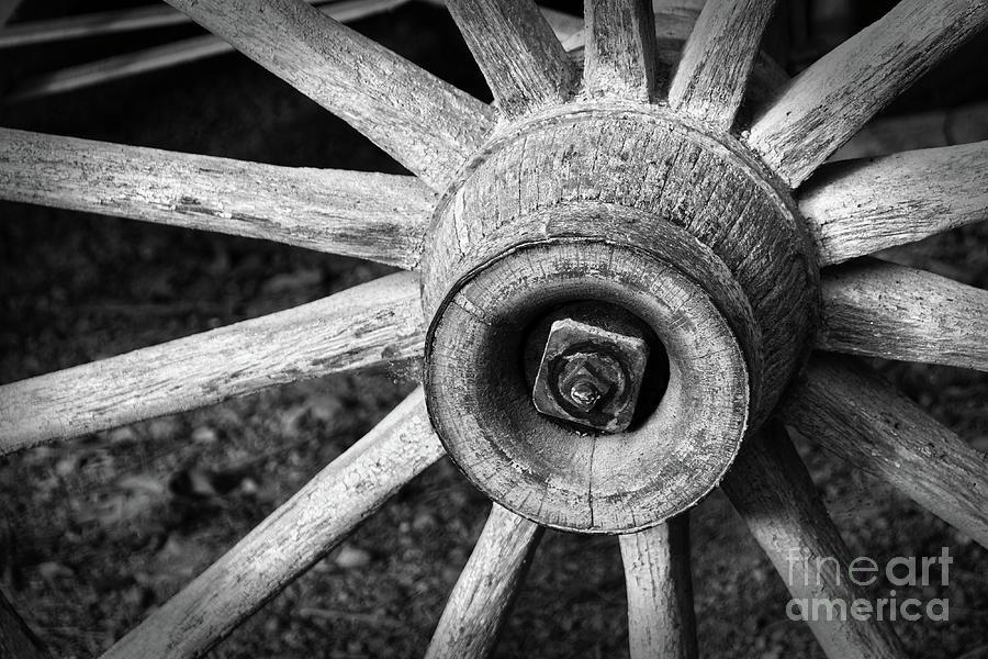 Farming Photograph - Vintage Wagon Wheel by Phil Perkins