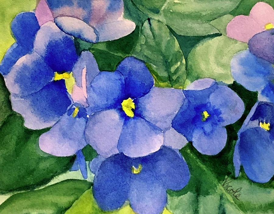 Violets Painting - Violets by Nicole Curreri