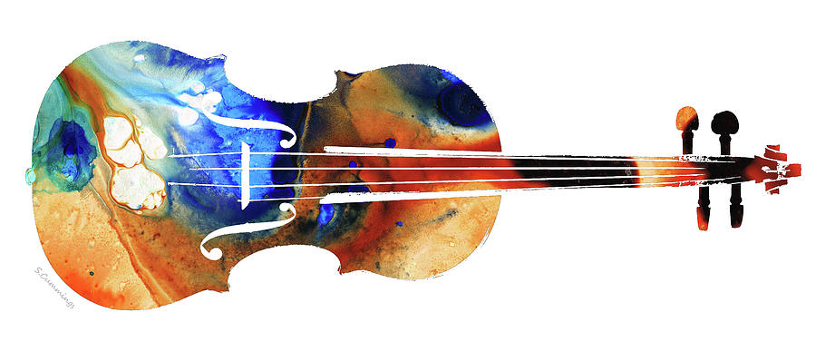 Violin Painting - Violin Art by Sharon Cummings by Sharon Cummings
