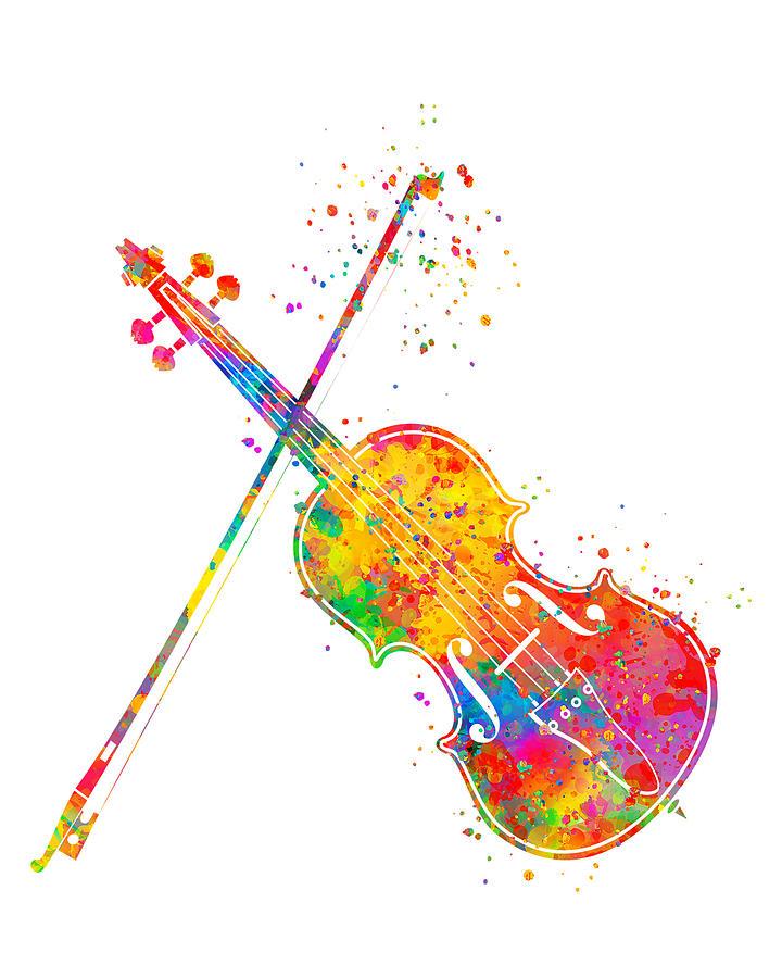 Violin Painting - Violin Art by Zuzi s