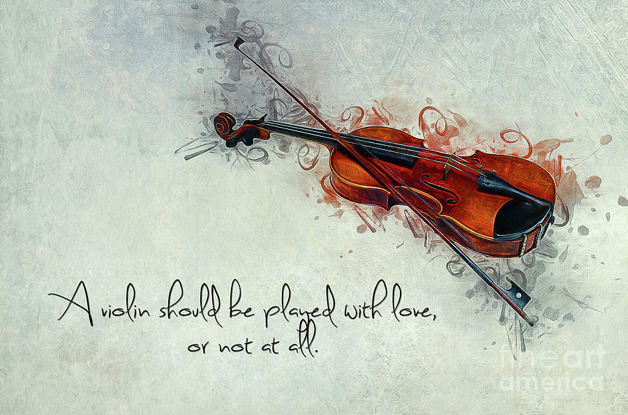 Music Photograph - Violin Love by Ian Mitchell