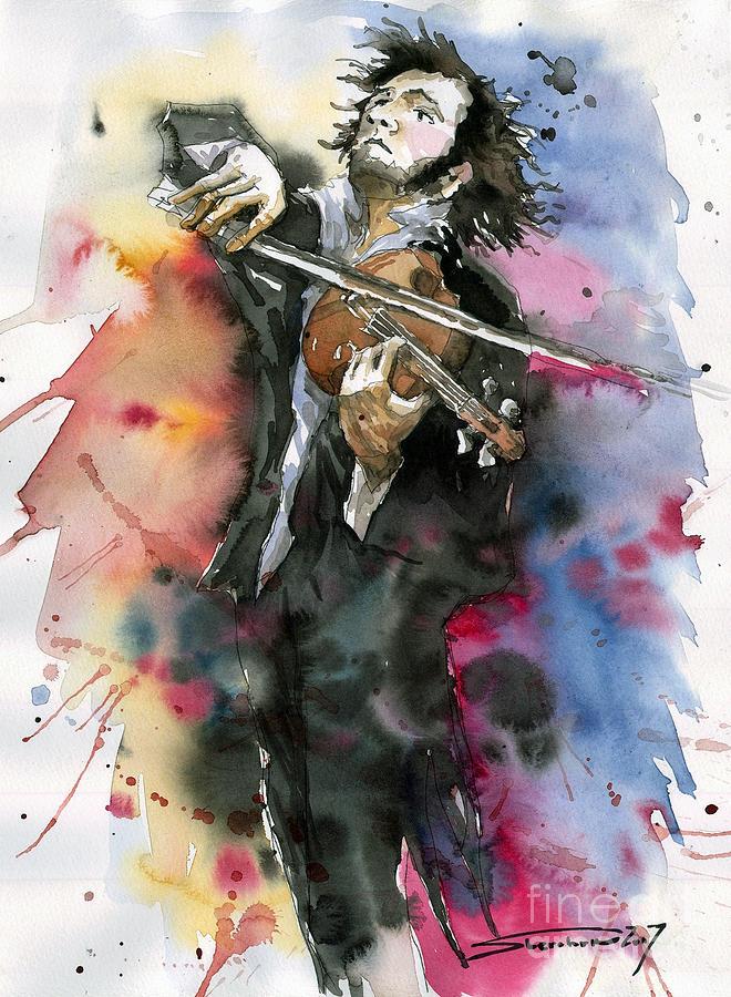 Music Painting - Violine player. by Yuriy Shevchuk
