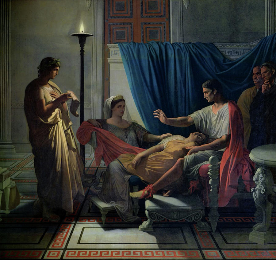 Virgil Reading the Neneid to Augustus  by Jean-Auguste-Dominique Ingres