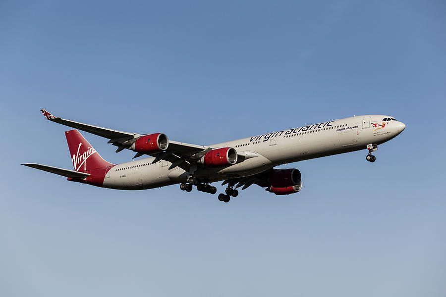 Virgin Atlantic Airbus A340-642              4 Photograph