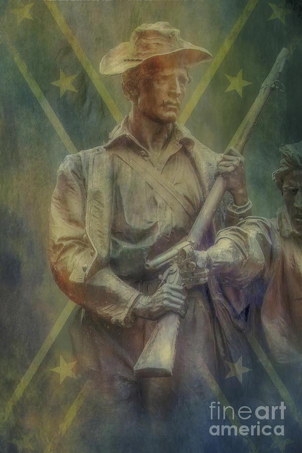 Battles Digital Art - Virginia Gettysburg Detail Rebel Flag Two   by Randy Steele