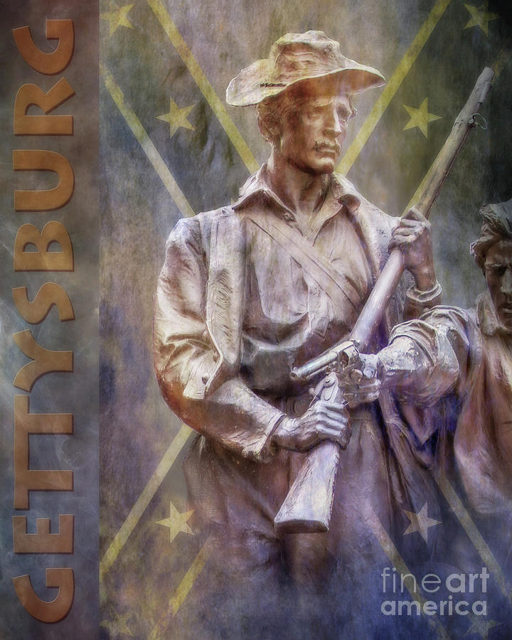 Virginia Monument Detail Gettysburg Poster Digital Art
